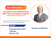 Jom Bersama with the Prime Minister of Malaysia at TM 2017