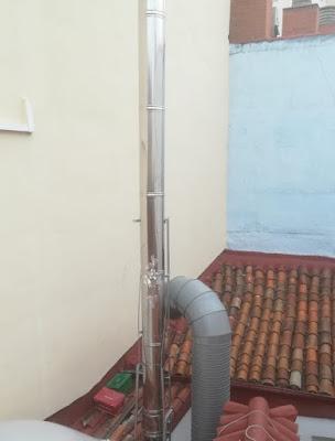 foto anclaje de una chimenea en madrid