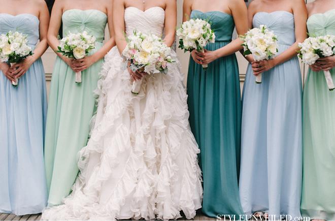 Diffe Color Dress Weddings Dresses