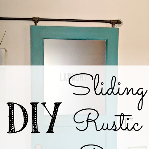 Laundry Room Redo - DIY Sliding Rustic Door