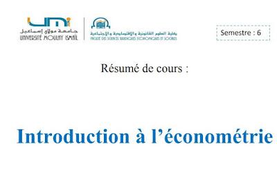 Résumé d'économétrie + Examens Corrigés