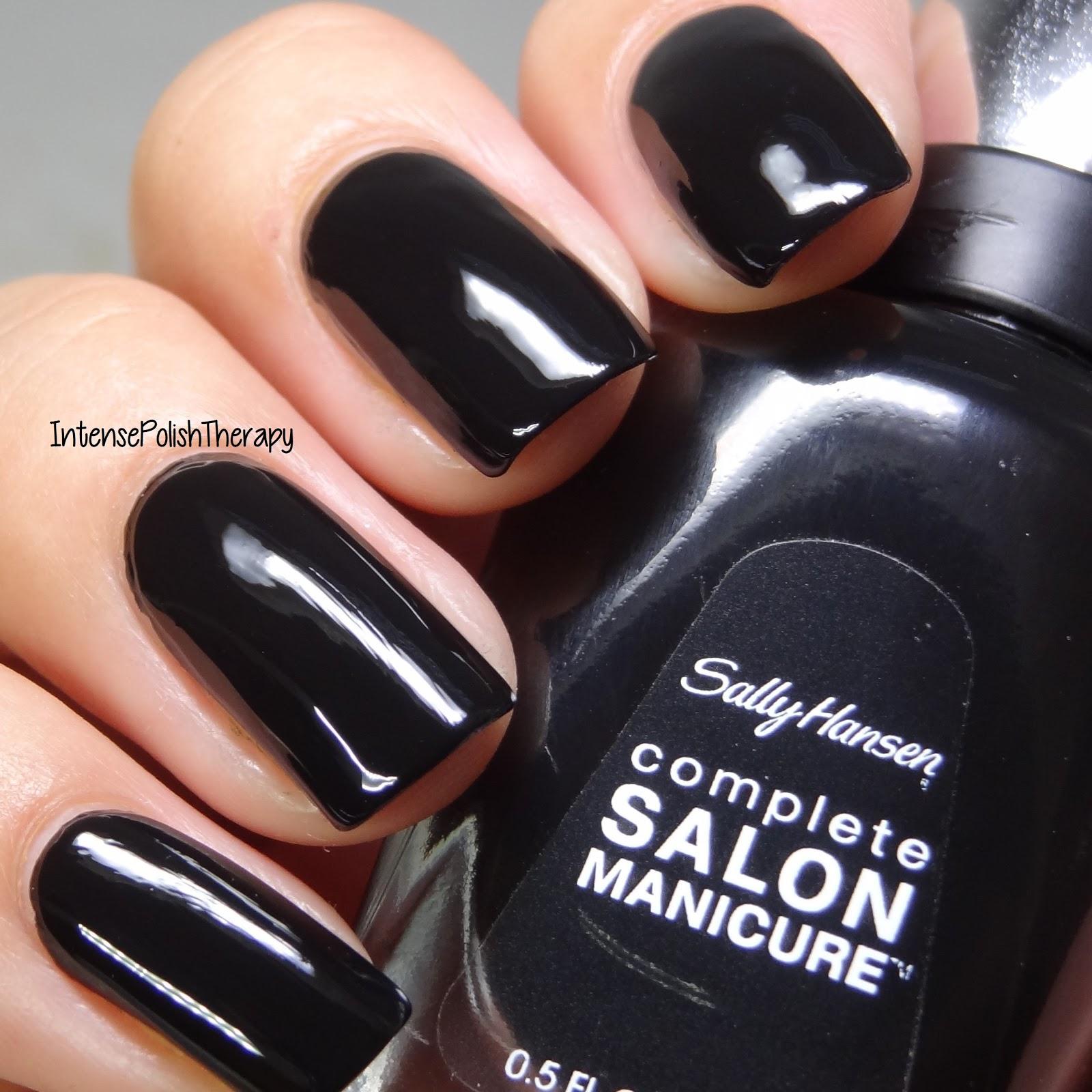 Intense Polish Therapy Sally Hansen Complete Salon Manicure Black To Basics Collection