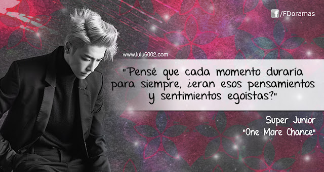 super junior one more chance frases kpop