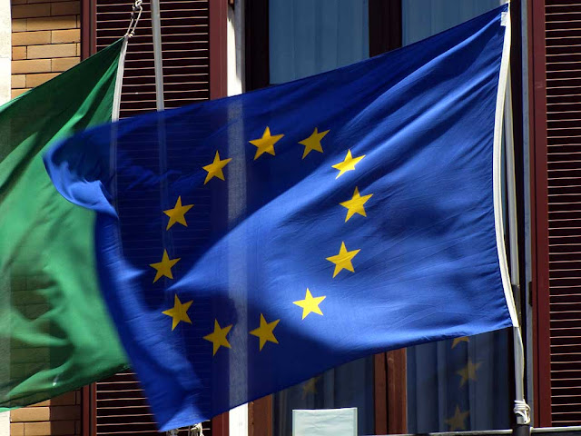European flag, Province of Livorno building, Livorno