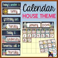 Calendar House Chalkboard Theme
