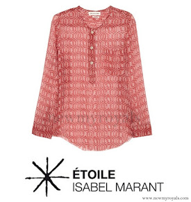 Princess Marie wore Isabel Marant blouse