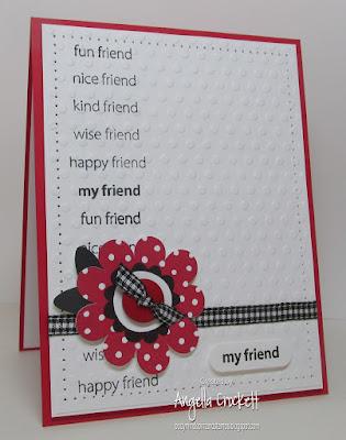 Stampin Up Polka-Dot Posies, Card Designer Angie Crockett