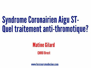 Syndrome Coronarien Aigu ST- Quel traitement anti-thrombotique ?pdf