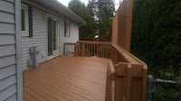 Full view of finished back deck.