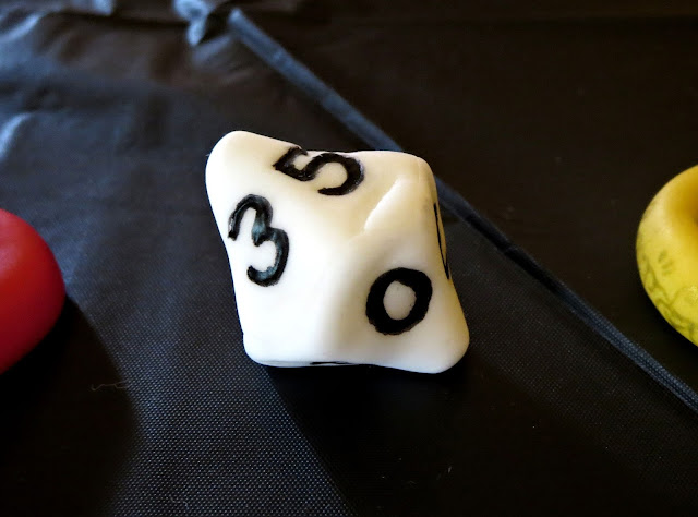 Nerdy Thirty Cake - Fondant 10-Sided Dice Decoration