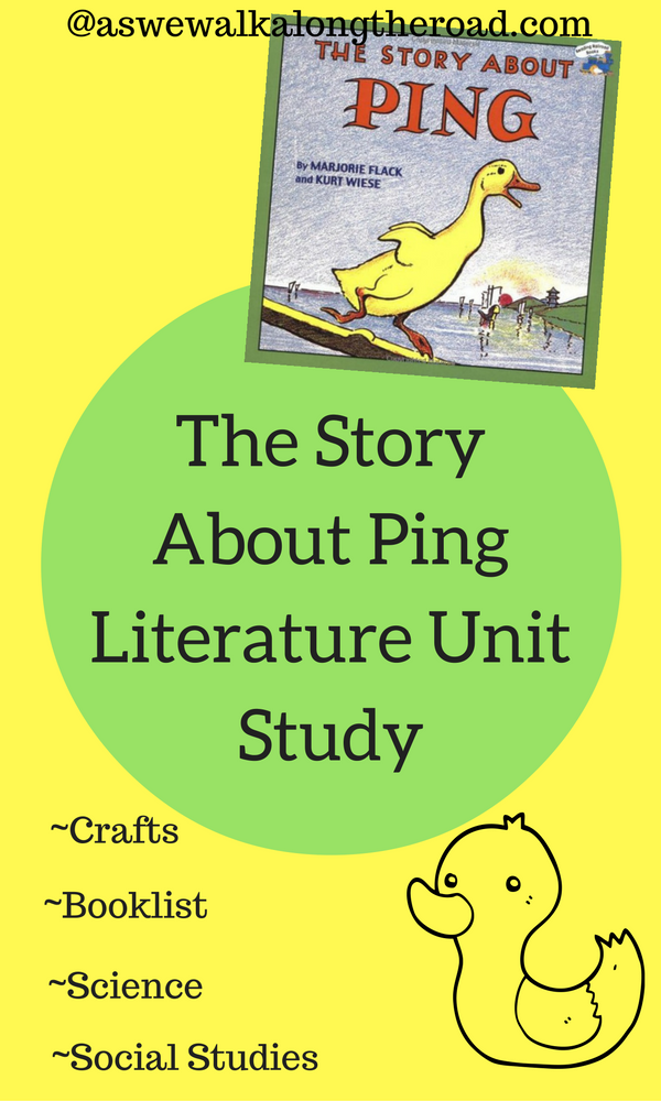 Literature unit study for A Story About Ping