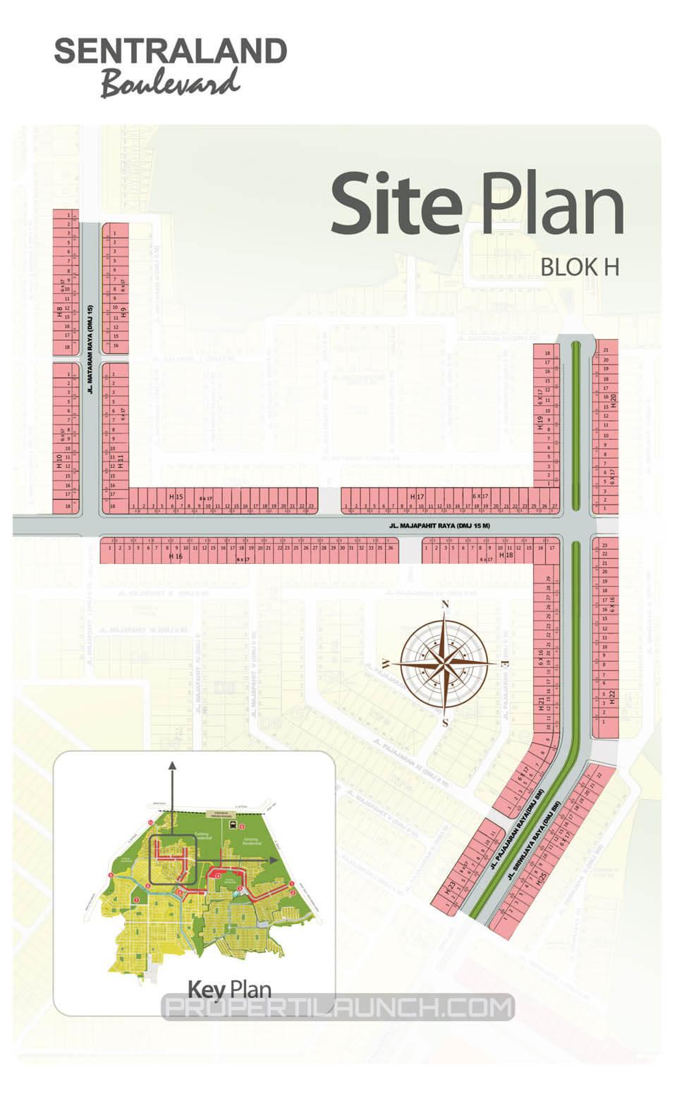 Siteplan Sentraland Boulevard