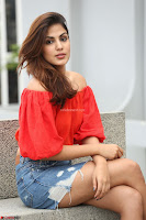 Rhea Chakraborty in Red Crop Top and Denim Shorts Spicy Pics ~  Exclusive 025.JPG