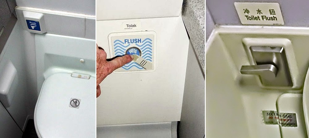 Beberapa contoh tombol flush