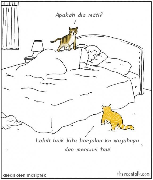 Ilustrasi yang Menggambarkan Pemikiran Binatang