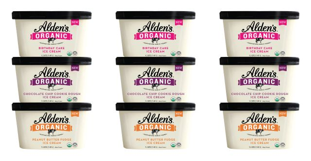 Aldens Organic Expands Their Ice Cream Line Up With Three New Flavors Birthday Cake Chocolate Chip Cookie Dough And Peanut Butter Fudge