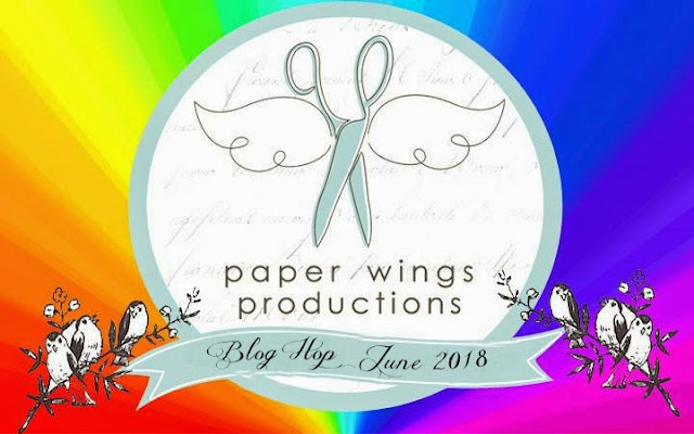 Paper Wings Productions June 2018 Bright Colors Blog Hop Banner