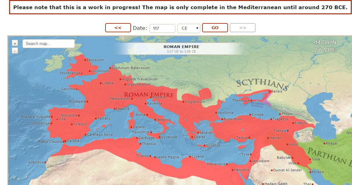 Map of the ancient world es un excelente mapa interactivo de las map of the ancient world es un excelente mapa interactivo de las civilizaciones de amrica europa el mediterrneo y oriente medio y prximo de la edad gumiabroncs Choice Image