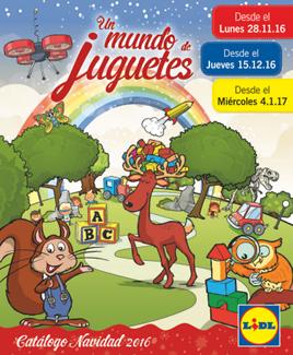 """Catálogo Lidl """"Un mundo de juguetes"""" : Navidad 2016"""
