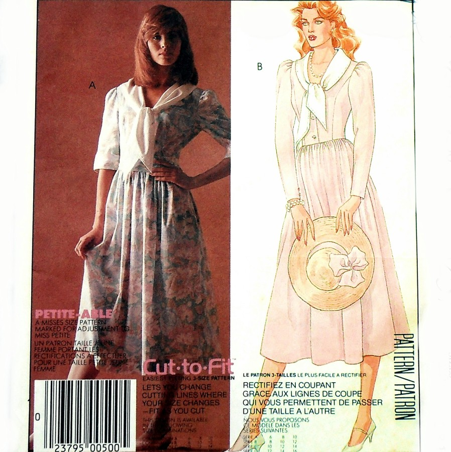 3558251b8e8b4 Vintage 1980s Sewing Pattern - Princess Bodice Dress. Full Skirt. Designer  Laura Ashley. Loose Tie Collar. McCalls 2374 - available here