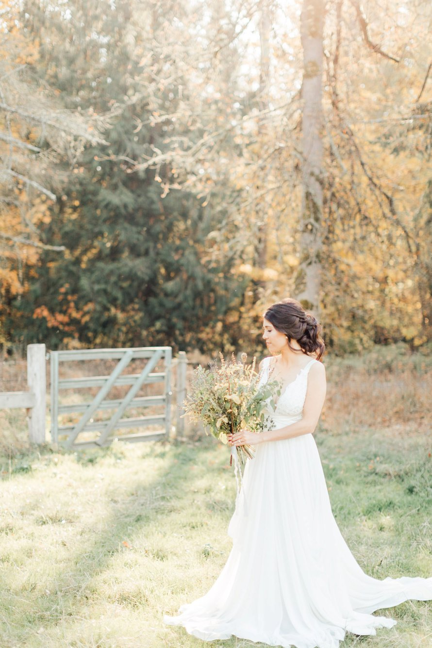 Romantic Fall Farm Wedding Photography by Something Minted