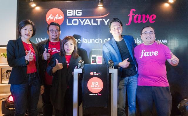 Kerjasama Program Kesetiaan AirAsia BIG dan Fave beri pengguna mata ganjaran di lebih 8,000 tawaran