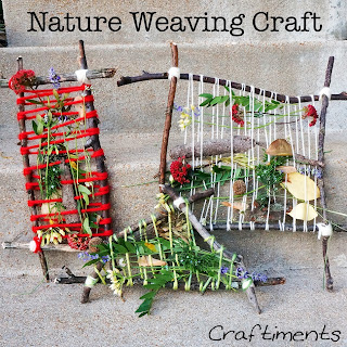 Craftiments:  Nature Weaving Craft