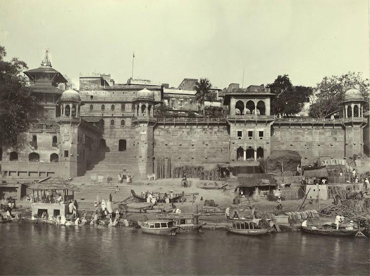 Nepalese temple at Lalita Ghat - Benares (Varanasi) 1905