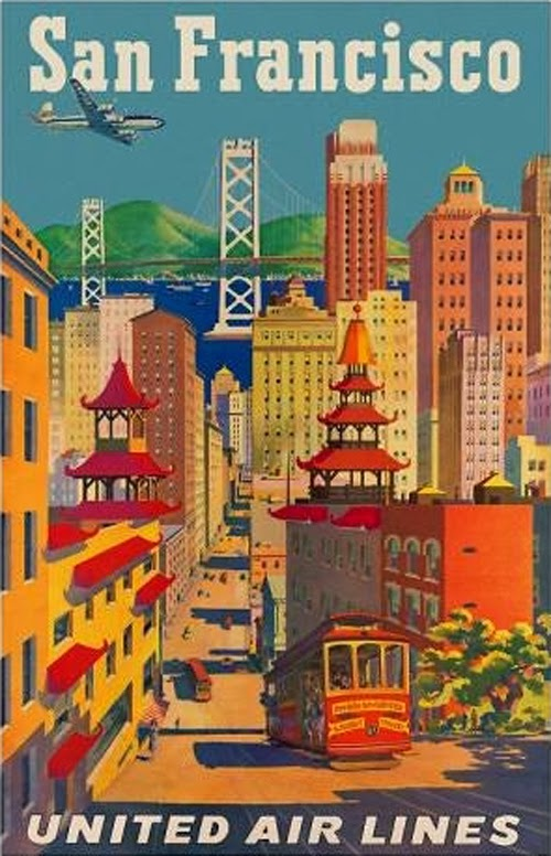 beautiful vintage san francisco travel posters