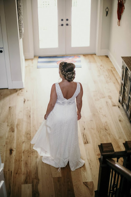Wedding dress on Captiva Island