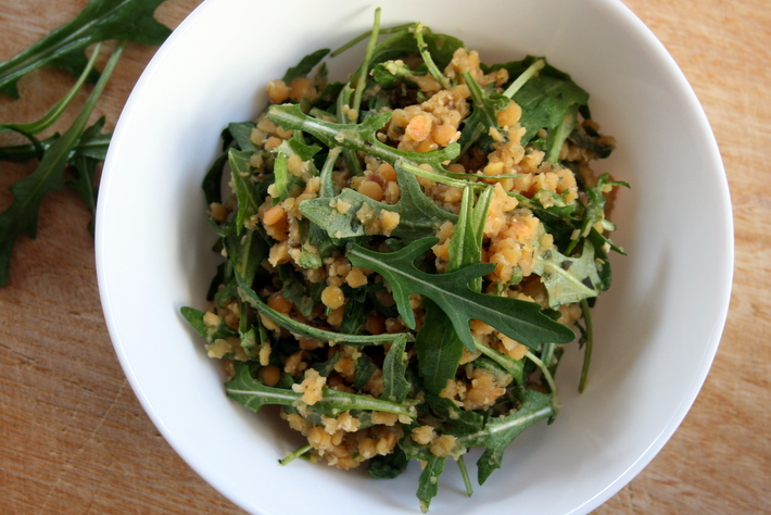Rucola-Linsen-Salat