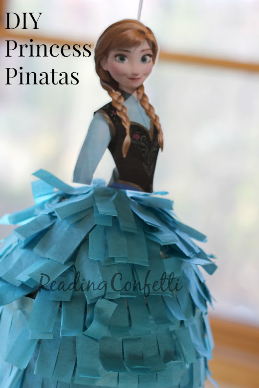 DIY Frozen or Princess Birthday Pinatas