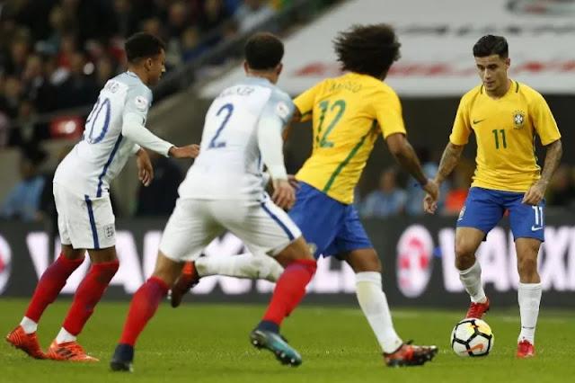 Inggris Bermain Imbang Lawan Brazil
