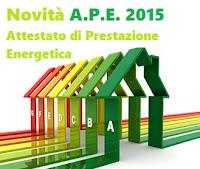 Attestato di prestazione energetica, APE, novità 2015