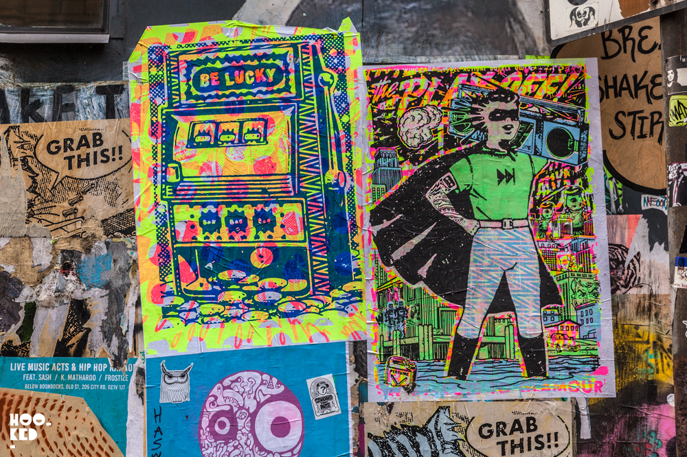 London Street Artist Ben Rider takes his fluoro ink obsession to the streets