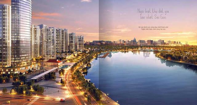 Khu biệt thự Vinhomes Golden River Bason lộng lẫy bên bờ sông Sài Gòn