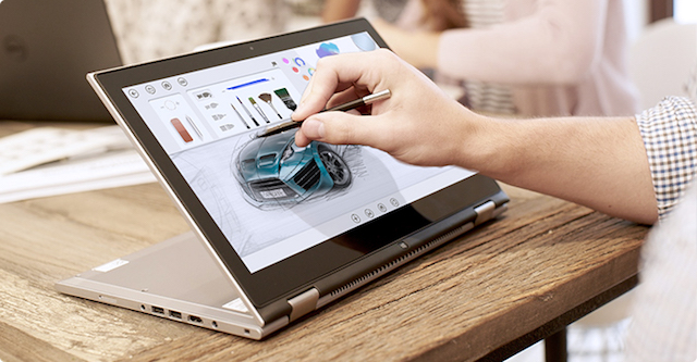 The INTEL 2-in-1 is part tablet, part laptop, all stylish, sleek silhouette