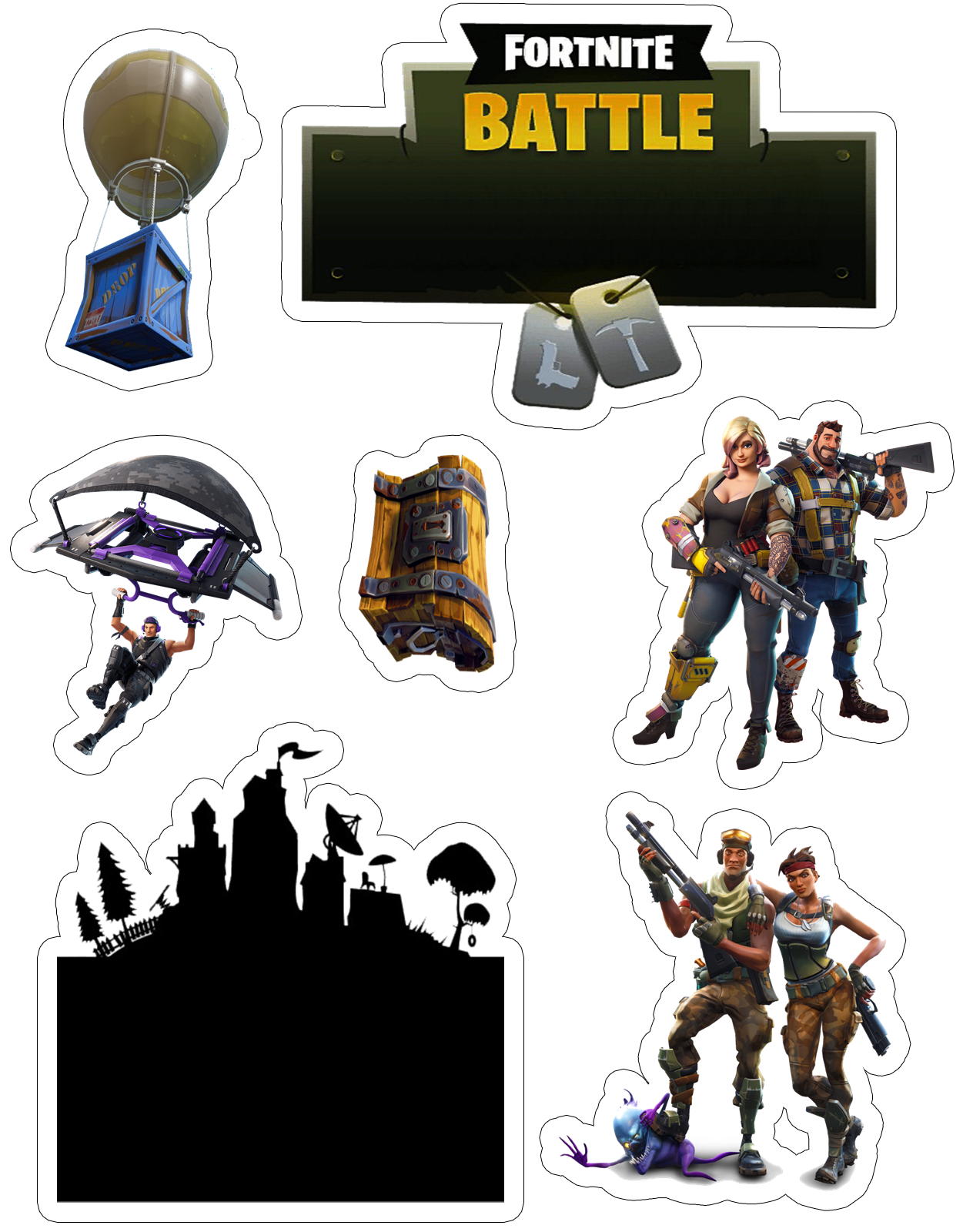 image about Fortnite Printable Images identified as Fortnite Free of charge Printable Cake Toppers. - Oh My Fiesta! for Geeks