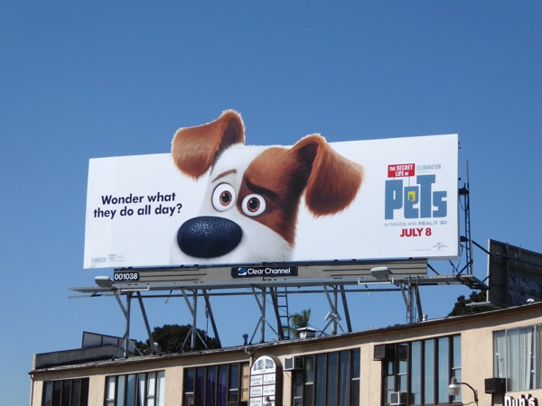 Secret Life of Pets Max billboard