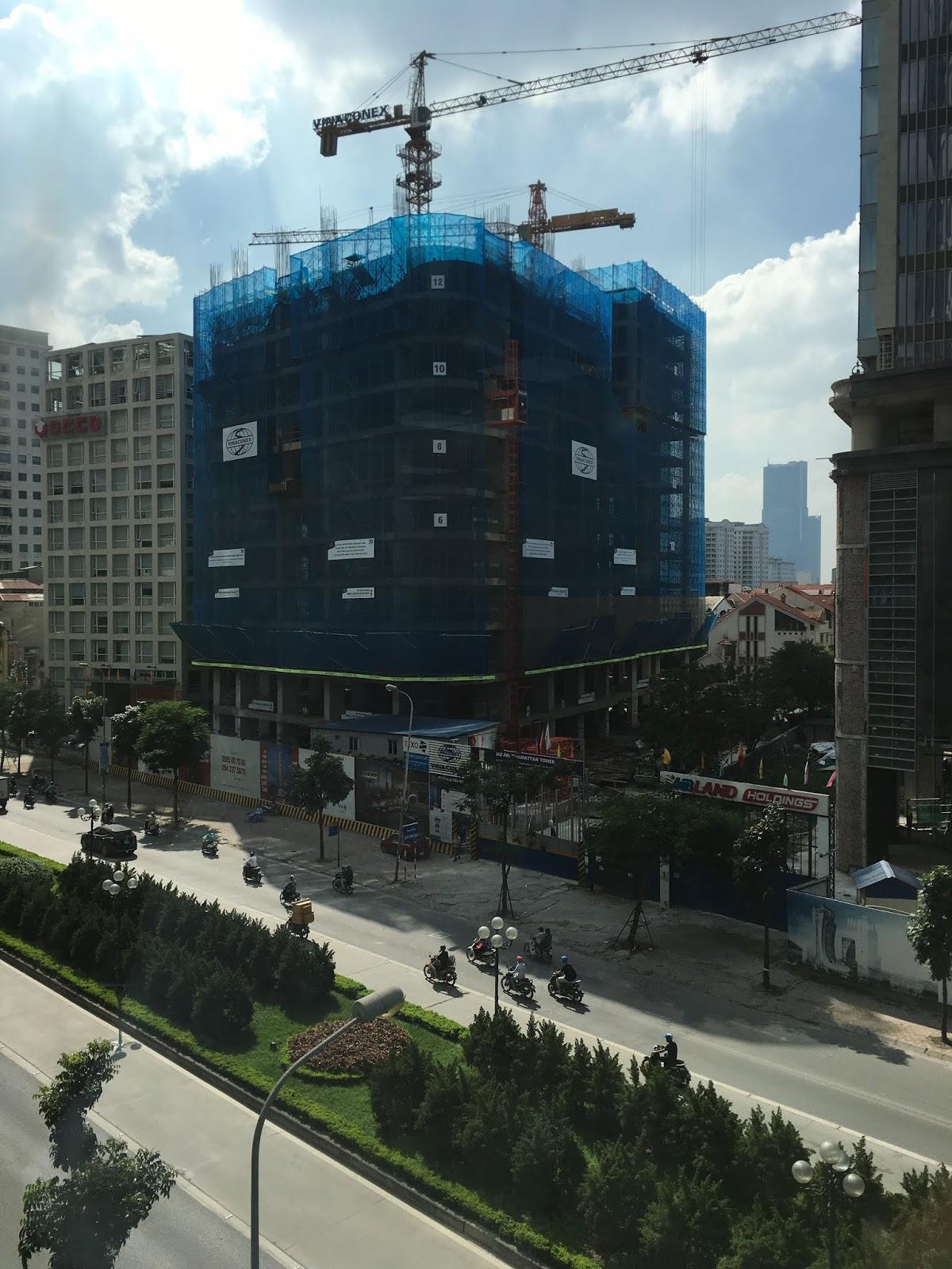 Tiến độ thi công Manhattan Tower
