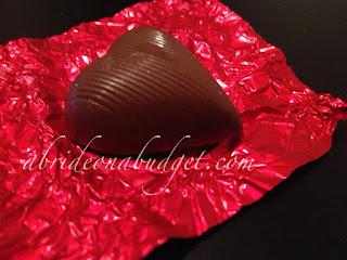 箔包裹的巧克力心脏