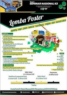 Lomba Poster Peringatan Bulan K3 Nasional 2018