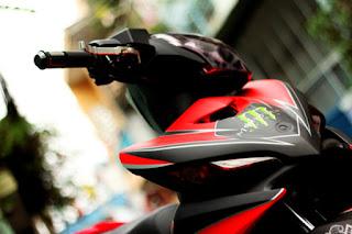 Exciter sơn phối màu đỏ đen Sport