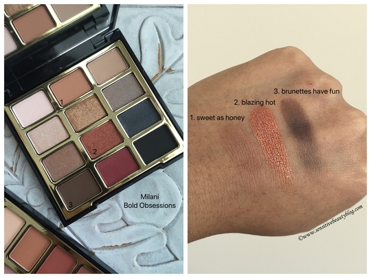 Milani Bold Obsessions palette review and swatches on dark skin