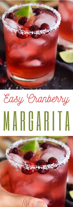 Easy Cranberry Margarita #drink #margarita
