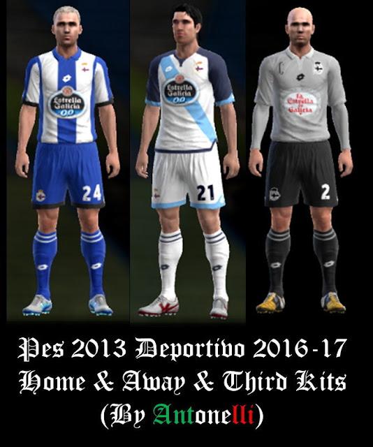PES 2013 Deportivo La Coruna Kit Season 2016-2017