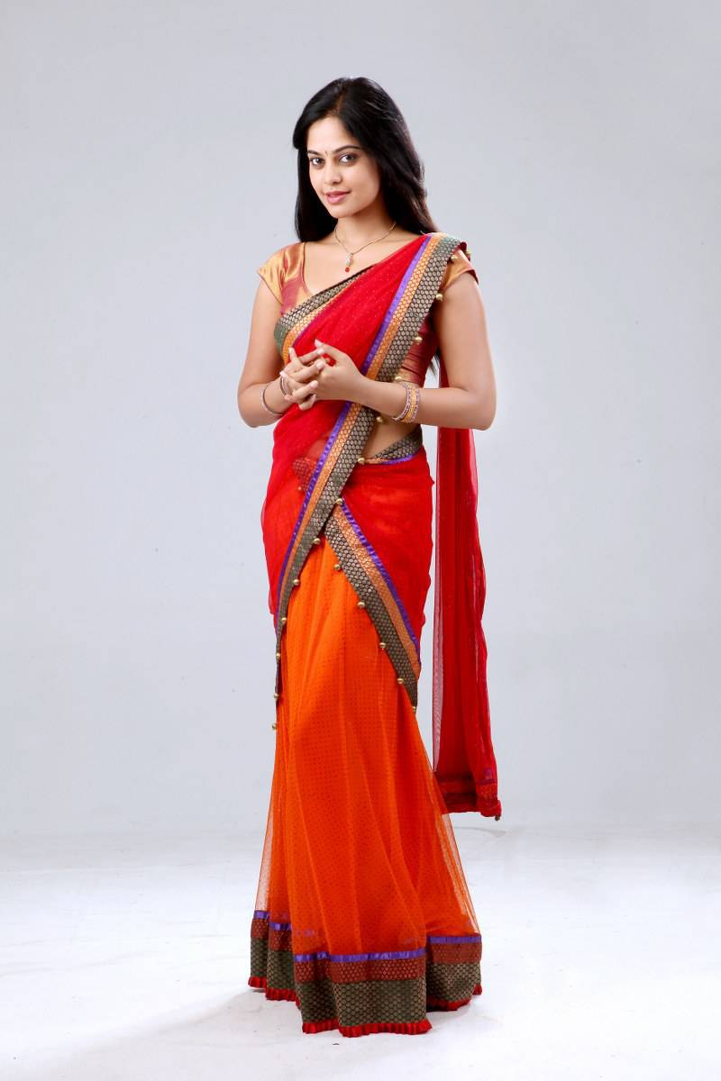 Glamorous Bindu Madhavi Photos In Red half Saree