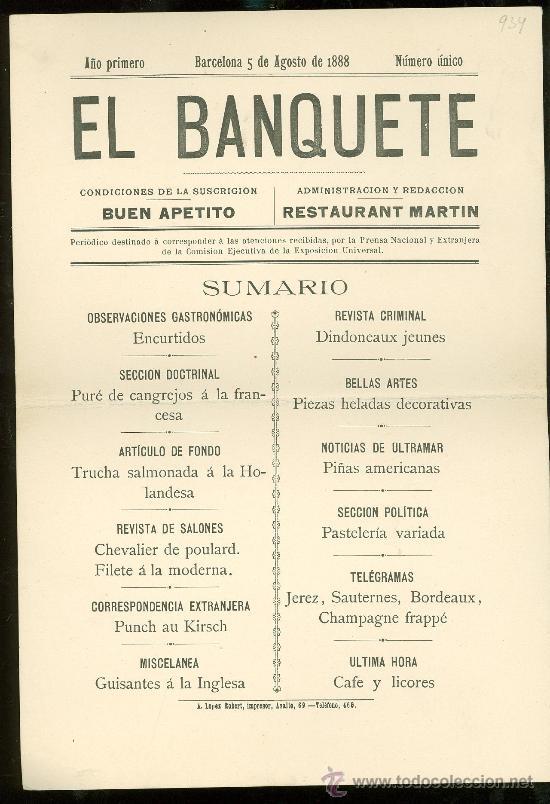 Mar a teresa serv n como dise ar un menu for Como disenar un restaurante