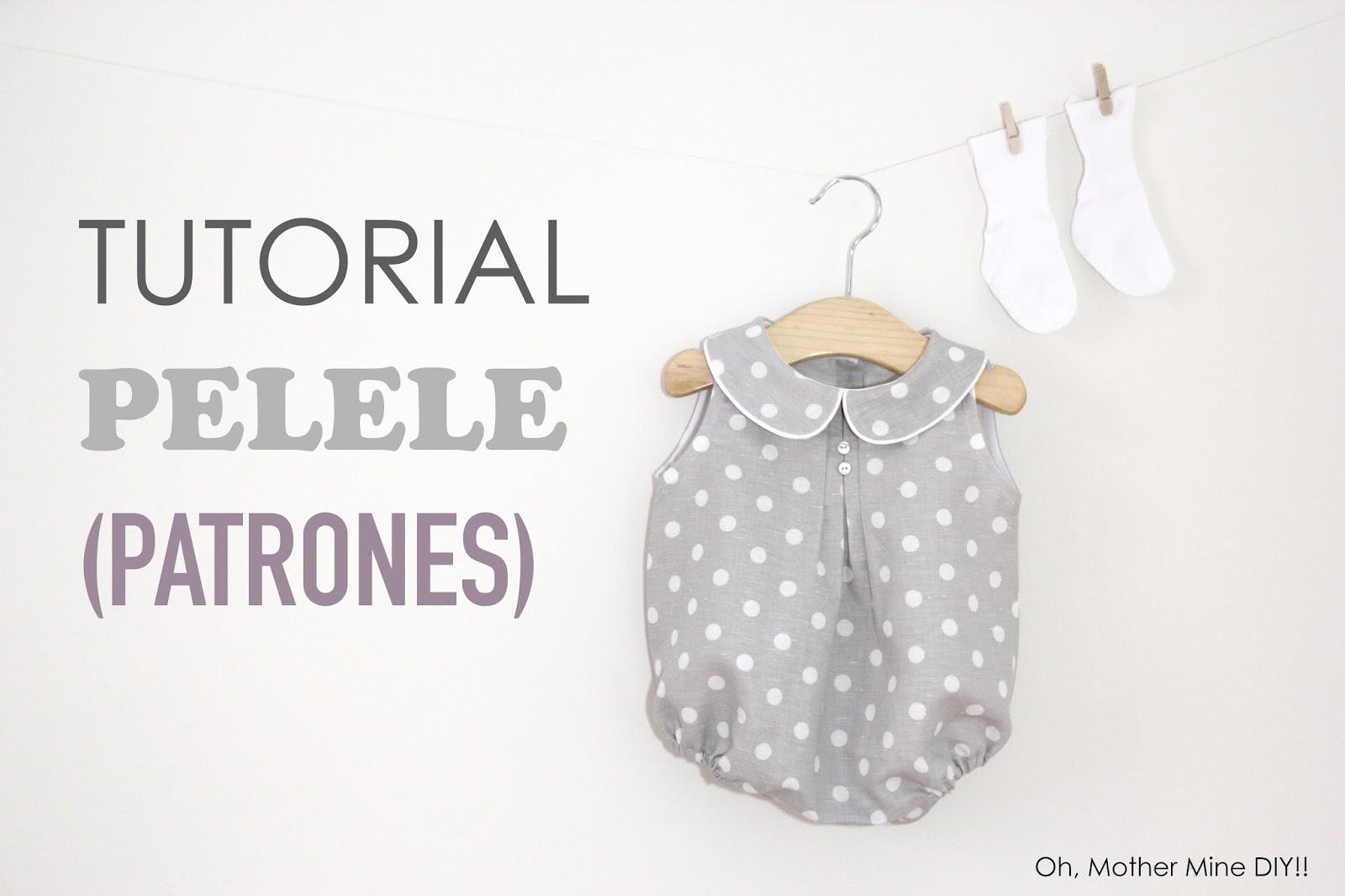 Tutorial y patrones: Pelele de lunares para bebe DIY - HANDBOX
