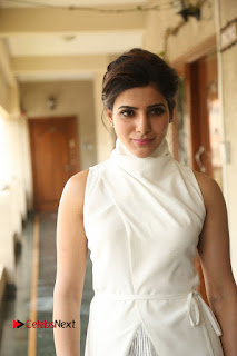 Actress Samantha Latest Picture Gallery in White Stylish Dress 0028